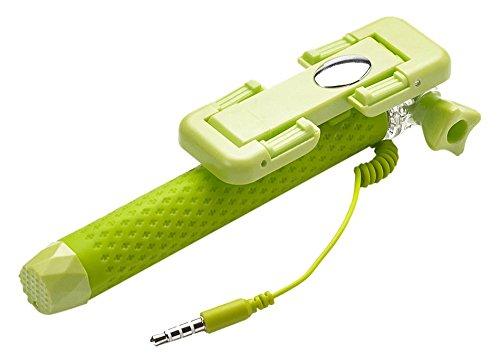 """Celly Mini Selfie Asta Tascabile, Supporto Universale Regolabile per Smartphone fino a 5,5"""", Verde"""