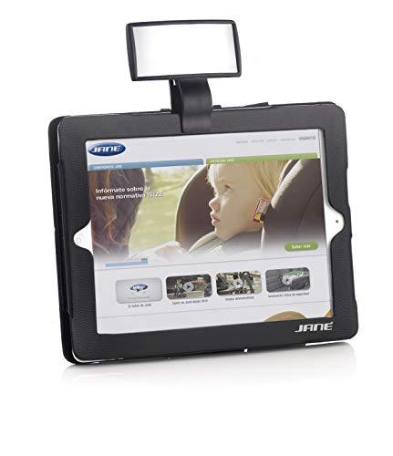 Jané Espejo de Seguridad con Funda para Tablet y Minitablet, Vigilancia del Niño Durante la Conducción