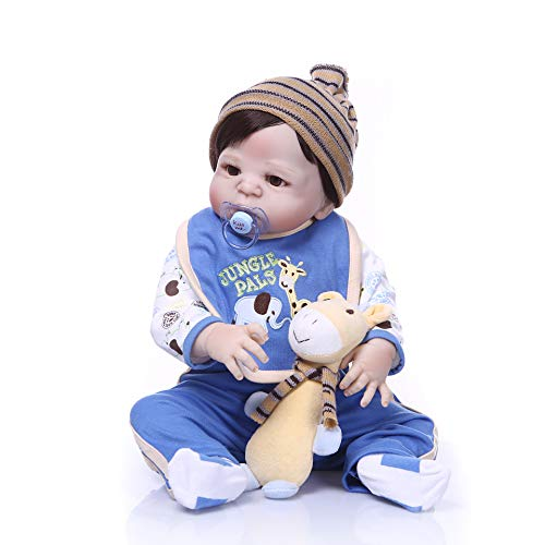 NPK Collection 22inch 55cm Full Silicone Rebron Baby Doll Realistic Reborn Babies Kids Growth Partner Colectible Toy