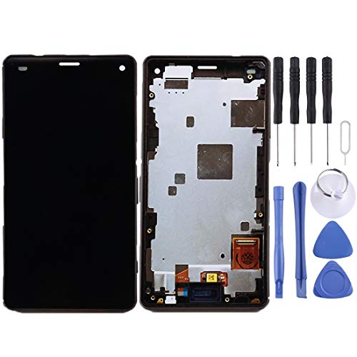 WWHSS -LCD Screen and Digitizer Full Assembly with Frame for Sony Xperia Z3 Mini Compact(Black) DIY (Color : Black)