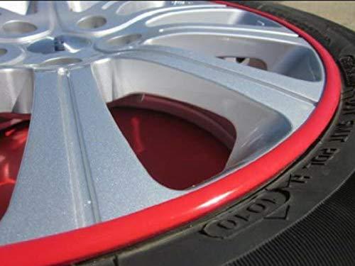 TRUE LINE Automotive Rim Guard Protection Trim Wheel Molding Side Scratch Prevention Kit (White)