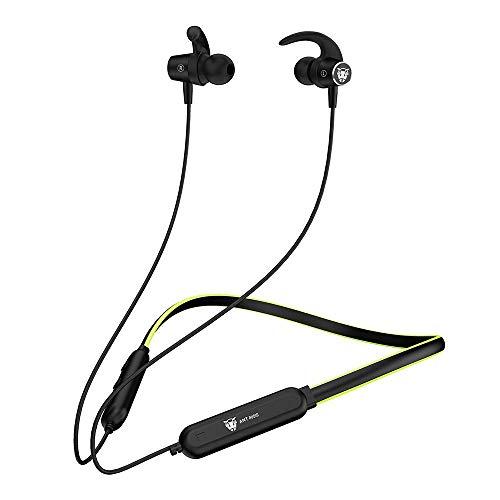 Ant Audio Wave Sports 540 Bluetooth Wireless Neckband in Ear Headphone with IPX5, Deep Bass Earbuds for Workout, Running, Gym, Office Work – Neon Green