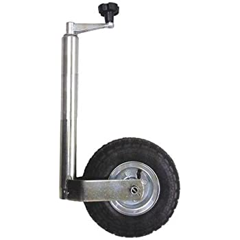Clamp ASC Maypole 48mm Jockey Wheel with Pneumatic Tyre Caravan Trailer Horsebox