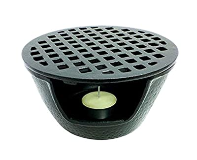 "Happy Sales HSTW1, Cast Iron Teapot Warmer Large 5.5""D Black"