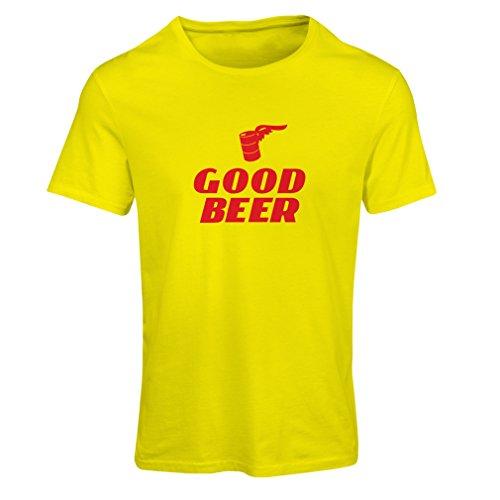 lepni.me Frauen T-Shirt Ich Brauche EIN gutes Bier, Geschenk für Bierliebhaber Partykleidung (Large Gelb Rote)