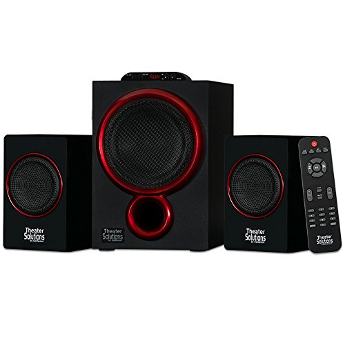 Theater Solutions by Goldwood Bluetooth 2.1 Speaker System 2.1-Channel Home Theater Speaker System,...