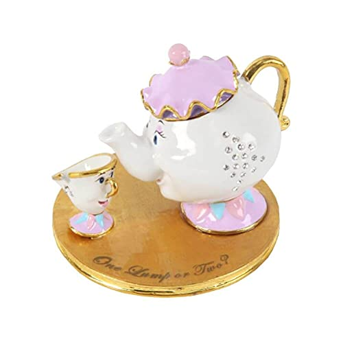 Disney Classic Mrs Potts and Chip Beauty and the Beast Trinket Box