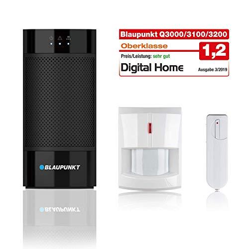 Blaupunkt Smart Home Alarm Q3000 Starter Kit für Haus, Wohnung, Geschäft, Ferienhaus; Kit bestehend aus: IP-Alarmzentrale, Funk-Bewegungsmelder (IR-S1L), Funk-Tür/Fenstersensor (DC-S1)