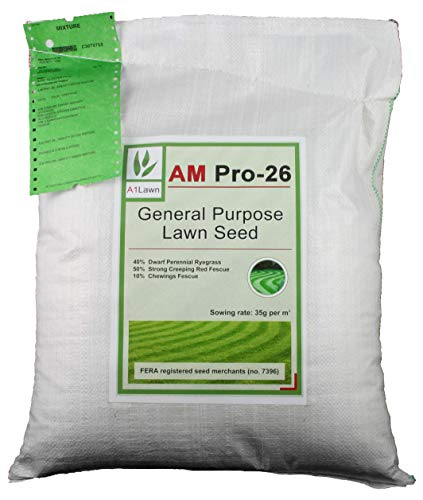 A1 Lawn, AM Pro-26 General Purpose Lawn Growing Grass Seed, 10kg