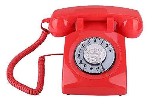 NULIPINBO Téléphone Vintage avec Cadran Rotatif, Montage Mural/Style de Bureau Rétro Téléphone Fixe Classic Vintage Téléphone Vintage Rétro Ligne Fixe Téléphone Téléphone Téléphone Téléphone