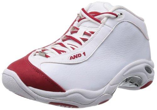 And1 Tai CHI Mid, Zapatillas de Baloncesto Hombre, Blanco-Weiß (White/Red-Silver), 41