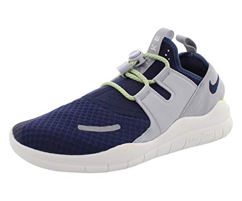 Nike Boy's Free RN Commuter 2018 Running Shoe, Midnight Navy/Obsidian-Wolf Grey, 6Y
