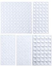 Sanggi Rubberen buffer, zelfklevend, 290 stuks, elastisch buffer, rubberen voetjes, deurbuffer, beschermbuffer, meubelbuffer, aanslagbuffer voor deur, schuifladen, notebook, 5 maten