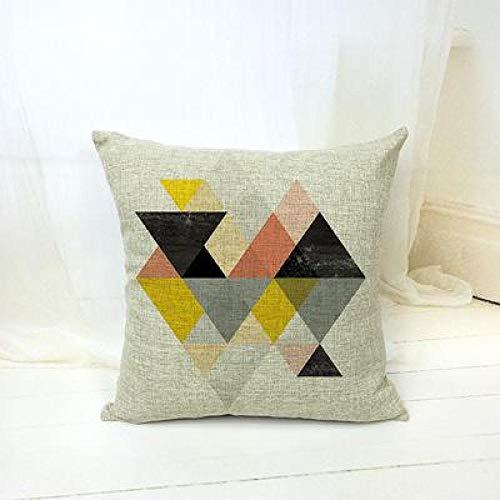 Cojines Estilo nórdico Patrón de geometría Impreso Throw Pillow Funda de cojín Decoración Creativa para sofá Fundas de Coche 45 × 45cm con núcleo de Almohada