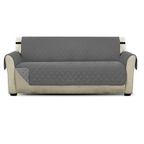 PETEMOO Housse de canapé réversible imperméable, protège-Meubles, Lavable, antidérapante avec Sangles élastiques, pour Animaux domestiques, Enfants