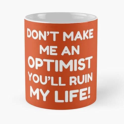 Fleabag - Natural Pessimists Optimists Gift Pessimist Dad Best Friend Fu-nny Gifts Classic Mug Mugs 11 Oz Dunder Mifflin Funny Coffee For Holidays. -tatbrows
