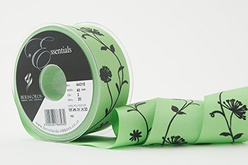 Read About Berisfords Ribbon, Green, 40 mm