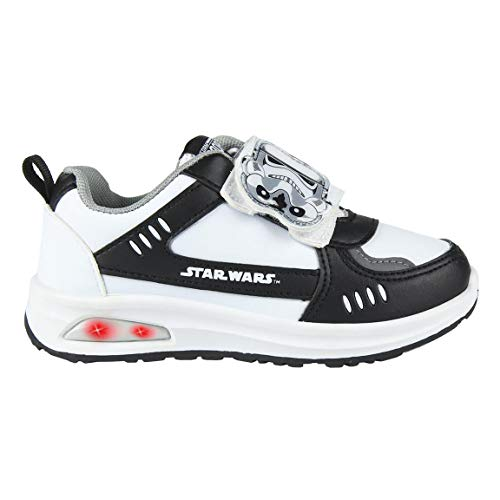 CERDÁ LIFE'S LITTLE MOMENTS Cerdá-Zapatilla con Luces Star Wars de Color Blanco, 29 EU