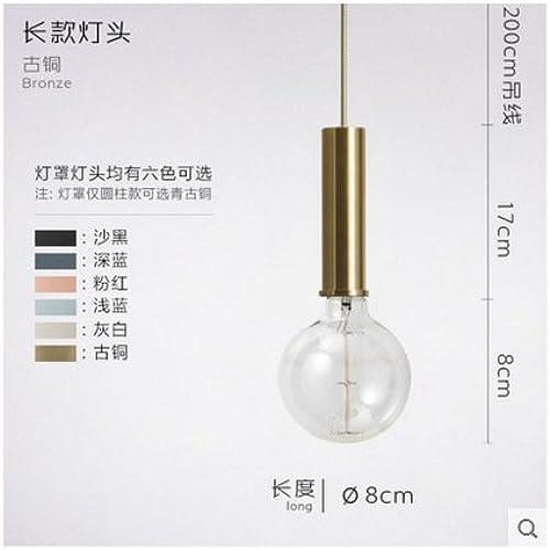 TIANLIANG04 Lustres Lampe Suspendue, Barre De Fer, Seul Bar, Salle à Manger, Chambre à Coucher, Tables De Chevet Lampe Suspendue,D