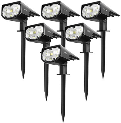 LITOM 12 LEDs Solar Landscape Spotlights IP67 Waterproof Solar Powered Wall Lights 2 in 1 Wireless product image