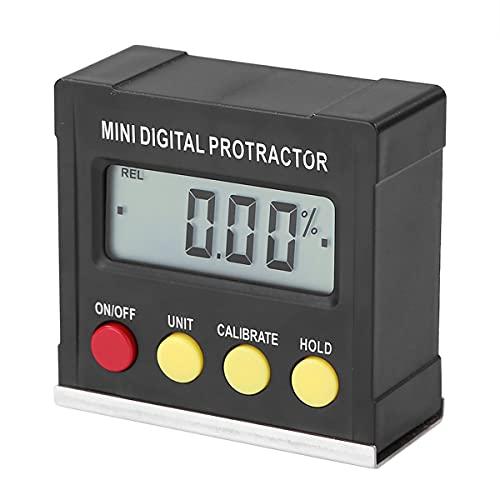 Nihlsen 360 grados negro mini transportador digital inclinómetro electrónico nivel caja magnética base herramientas de medición