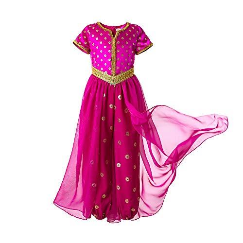 Pettigirl Niña Disfraz de Princesa Rosa para Niña