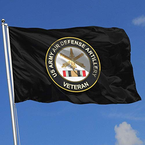 AGnight Banderas Bandera Army Air Defense Artillery Iraq Veteran Flags 3x5 Foot Banner 3X5 Ft Polyester Banner Flags