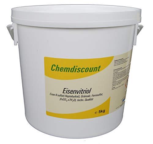 5kg Eisenvitriol (Grünsalz, Eisensulfat-Heptahydrat), techn. Qualität