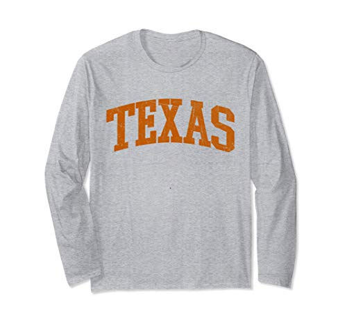 Texas TX USA vintage Athletic Style Gift Long Sleeve T-Shirt
