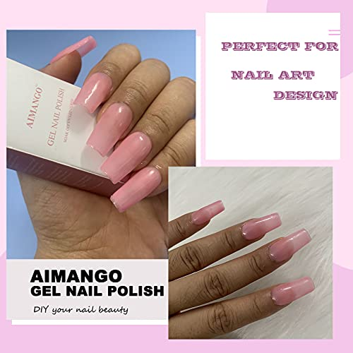 Clear pink gel nails _image2