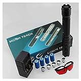 LGQ Linterna Azul de Alta Potencia con Patrones Ajustables para enseñanza de astronomía y conferencias y Juguete Multifuncional para Mascotas e iluminación al Aire Libre etc,Color Box 1.6W