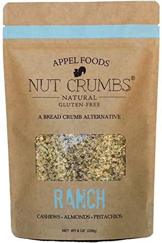 Appel Foods - Nut Crumbs - Bread Crumb Alternative - Gluten Free - Sugar Free - Low Carb - Low Sodium - Raw, Premium Nuts - (Ranch)