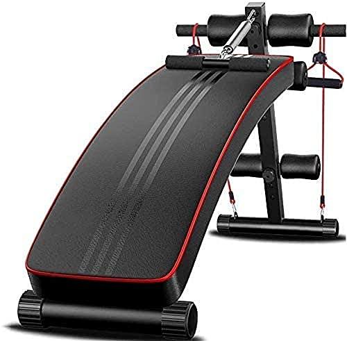 Banco de Peso Ajustable Plegado AB Sentarse Fitness Home Gym Fitness Ejercicio Entrenamiento Pliegues para una Altura de Almacenamiento fácil