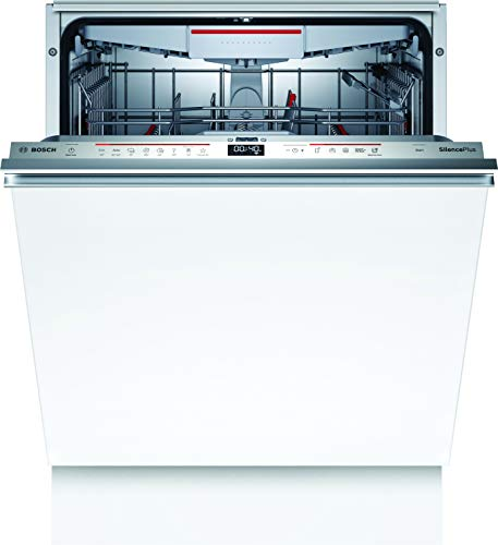 Bosch SMD6ECX57E Serie 6 Lavavajillas totalmente integrado, D / 60 cm / 85 kWh/100 ciclos / 14 MGD/SuperSilence/TimeLight/Variocajón/Home Connect
