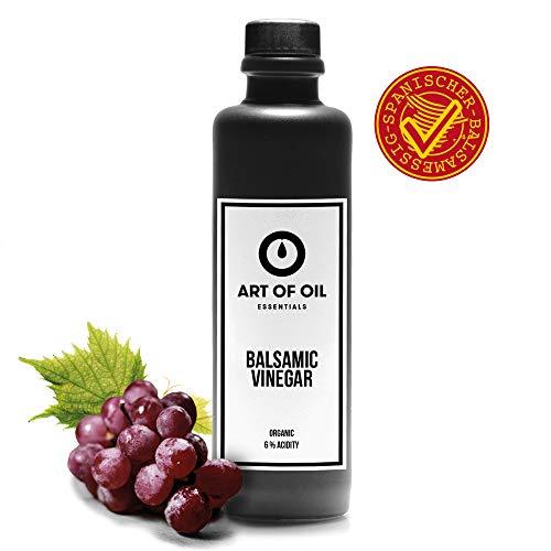 ART OF OIL Bio Balsamico Essig | 200 ml Weinessig Bio | Vier Jahre im Eichenfass gelagert | Geschenk für Hobbyköche & Dankeschön Geschenke