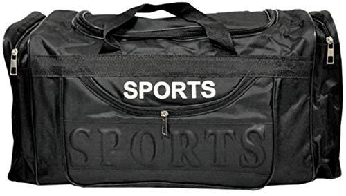 Rock on Styles Mens EXTRA LARGE BIG Sports & Gym Bag Duffel holdall Bag TRAVEL BAG WORK BLACK (BLACK, 50 cm)