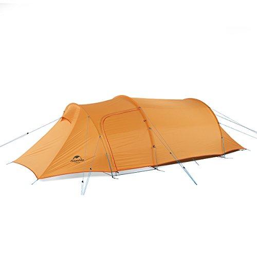 Naturehike公式ショップ テント 3人用 広い前室 4シーズン 超軽量 ツールーム トンネル型 キャンプ 登山(専用グランドシート付)