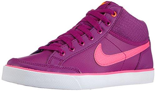 Nike Unisex-Kinder Capri 3 Mid Leather (GS) High-Top, Violett (BLD Brry/Pnk Pw-White-TTL Orng 502), 37.5 EU