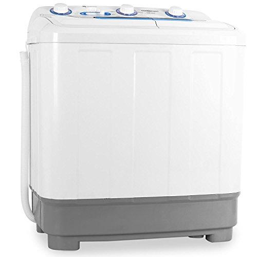 oneConcept DB004 - lavatrice, mini-lavatrice, per campeggiatori, per single, studenti, capacità di lavaggio da 4,8 kg, potenza 380 watt, capacità spin 160 W, 2 programmi, bianco