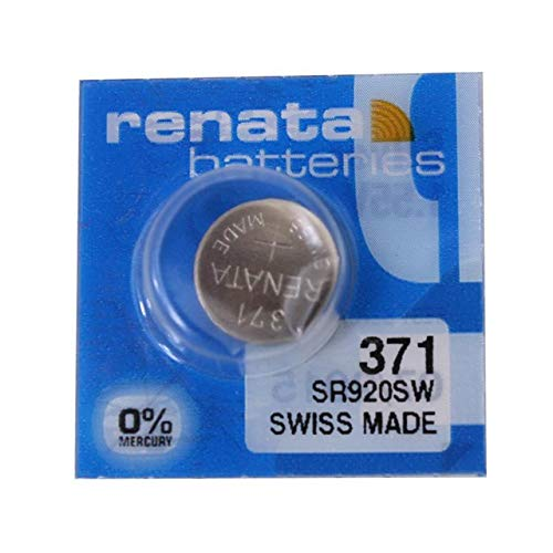 Batteria Renata 371 SR920SW argento 1,55 V SWISS MADE...