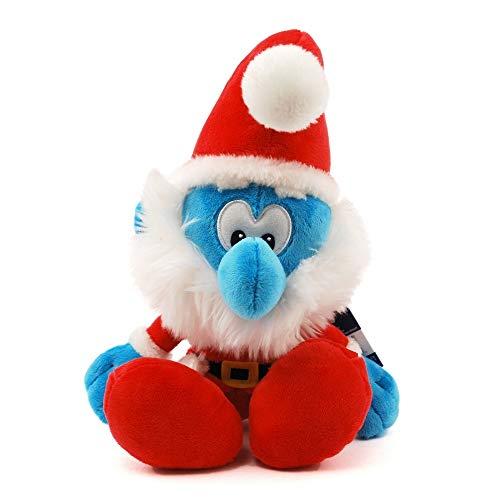 Puffi Puffo Smurf Smurfs Schtroumpfs 25cm Peluche Santa Papa Grande Babbo Natale