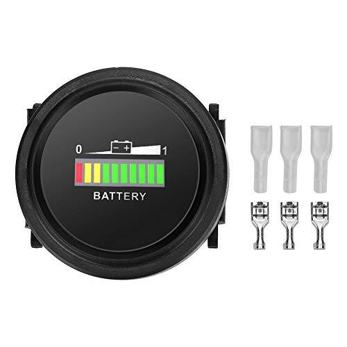 %9 OFF! Goregri 12-72V LED Battery Indicator, LED Battery Indicator Meter Gauge Charge Status Monito...