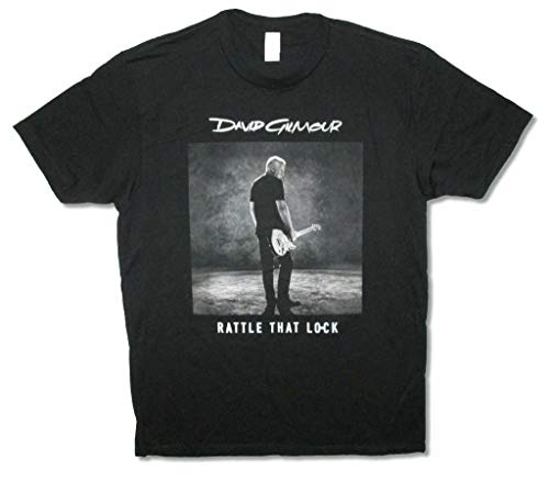 David Gilmour Sepia Photo Rattle That Lock Tour 2016 Adult Black T Shirt New