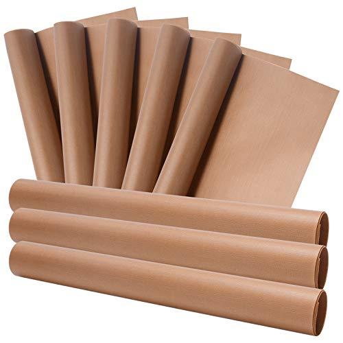 ZITFRI Dauerbackfolie Backpapier 8pcs 40x30cm wiederverwendbar Backfolien, abwaschbares Backpapier Backfolie Silikon hitzebeständig zuschneidbar, Backunterlage Teflon für Backofen Handwerk