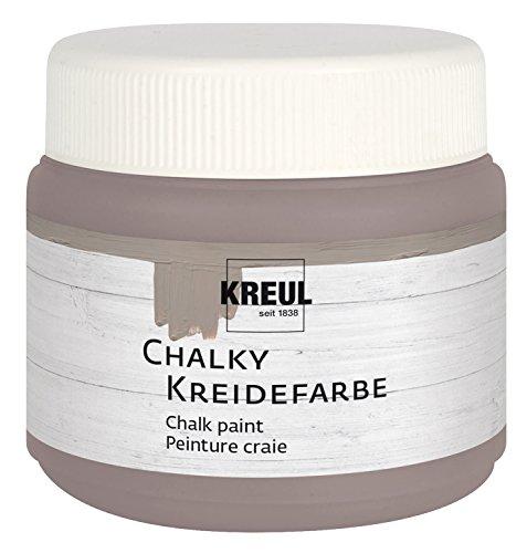 Kreul 75321 - Chalky Kreidefarbe, Mild Mocca in 150 ml Kunststoffdose, sanft - matte Farbe, cremig deckend, schnelltrocknend, für Effekte im Used Look