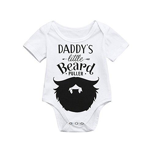 Skang Daddy's Little Beard Body Bébé Cotton Manches Courtes nfant Garçons Filles Barboteuses Letter Imprimé Jumpsuit Romper Bodys Été Mignon Mode Tenues Vêtements