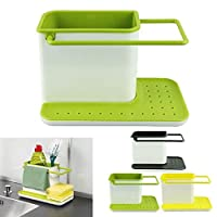 Organize Your Kitchen Sink Area With this Stand Perfectly Crafted For Kitchen Sink Area. Very Innovative Design to Store All Daily Needs For Sink Work Like Dishwasher Liquid, Brush, Cloth, Soap, Sponge Etc. The main body of the unit provides ample sp...