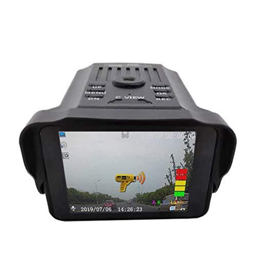 Dash CamDriving Recorder 2-In-1 HD 1080P Radar Car Velocímetro Radar Móvil DVR CámaraGrabadora De Conducción