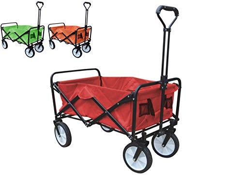 Preisvergleich Produktbild Papilioshop Moon Bollerwagen,  faltbar,  mit Rädern für Garten,  Transport,  max. 80 kg,  Rot
