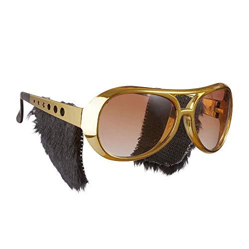 Widmann 6733S Rock´n´Roll Brille mit Koteletten, Herren, Gold, One Size
